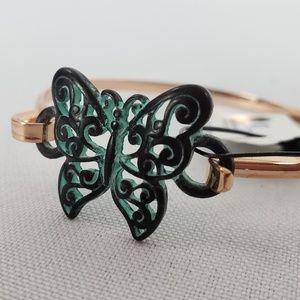 Jewelry - Butterfly Patina & Rose Gold Bracelet